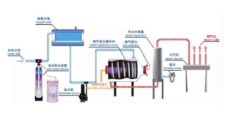 oil gas steam boiler diageam