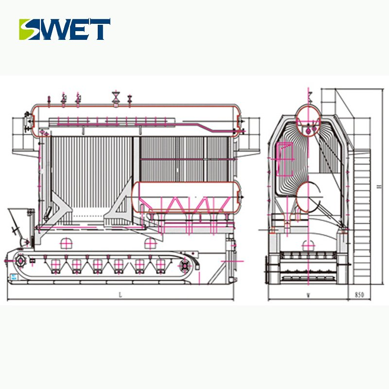 Industrial 35t/h Biomass / Coal SZL Steam boiler